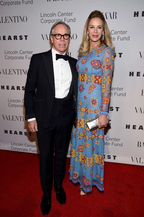 Estilista Tommy Hilfiger e a mulher, Dee Ocleppo, em festa em Nova York, nos Estados Unidos (Foto: Dimitrios Kambouris/ Getty Images/ AFP)