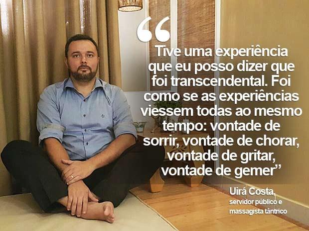 O servidor público Uirá Costa, que também atua como massagista tântrico no DF (Foto: Raquel Morais/G1)