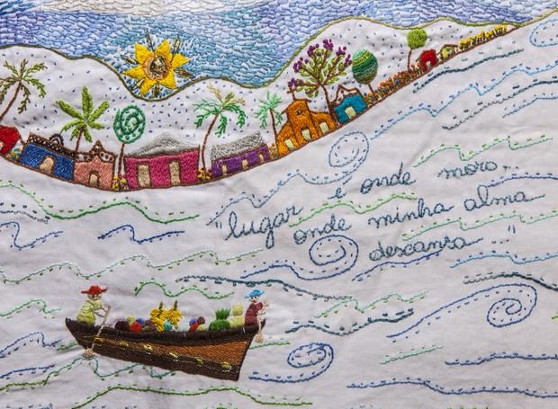 Mostra de bordados de diversos estados conta a história deste tipo de trabalho manual no Brasil (Foto: Divulgação/A Casa)