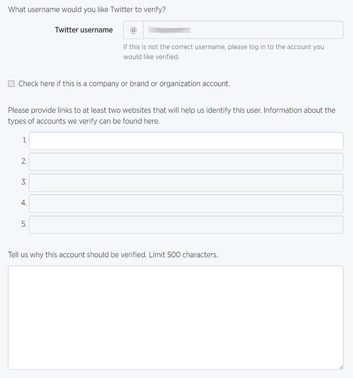 Próximo passo é incluir links e uma descrição explicando a necessidade de ter sua conta verificada dentro da rede (Foto: Reprodução/Filipe Garrett)