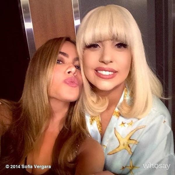 Sofia Vergara compartilhou com seus seguidores o encontro com Lady Gaga (Foto: Instagram)