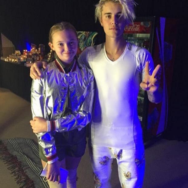 Emma Gretzky, filha da atriz Janet Jones, e Justin Bieber (Foto: Reprodução/Instagram)