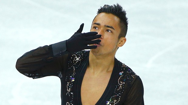 Florent Amodio patinador em Sochi (Foto: Reuters)
