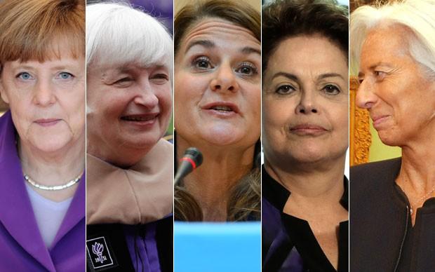 As cinco primeiras colocadas na lista da Forbes são Angela Merkel, Janet Yellen, Melinda Gates, Dilma Rousseff e Christine Lagarde (Foto: AP)