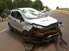 Colisão entre 2 carros deixa 5 feridos em rodovia próximo a Viradouro, SP
