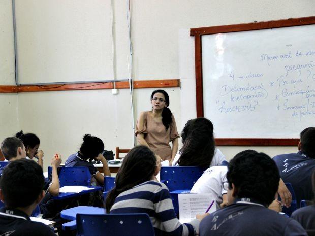 Na capital, alunos participam de oficinas para tirar dúvidas (Foto: Suelen Gonçalves/G1 AM)
