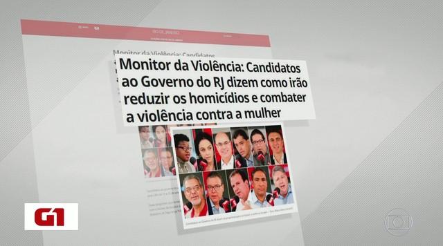 G1 no Bom Dia Rio: Candidatos ao governo do Rio de Janeiro são entrevistados pelo G1 e CBN