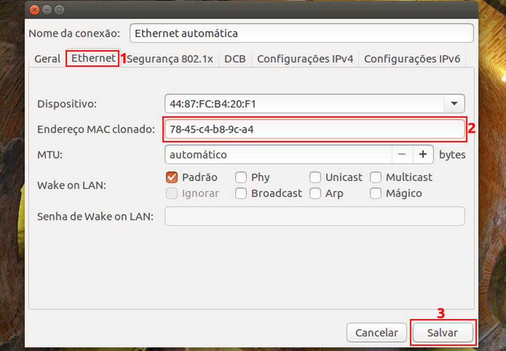 Mudando o endereço MAC da placa de rede no Linux (Foto: Edivaldo Brito/TechTudo)