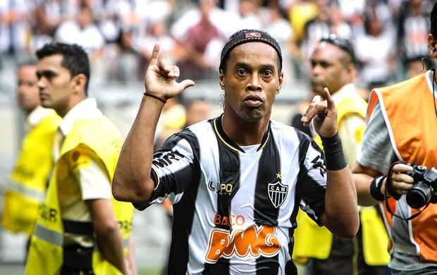 Ronaldinho Gaúcho gol Atlético-MG Villa Nova (Foto: Bruno Cantini / Site Oficial do Atlético-MG)