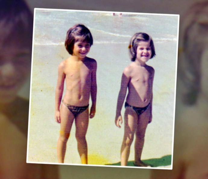 Ingrid e Astrid são irmãs inseparáveis! (Foto: TV Globo)