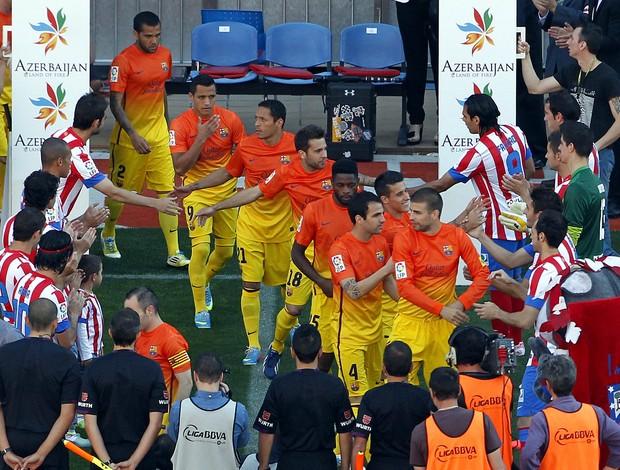 barcelona pasillo campeão (Foto: AP)