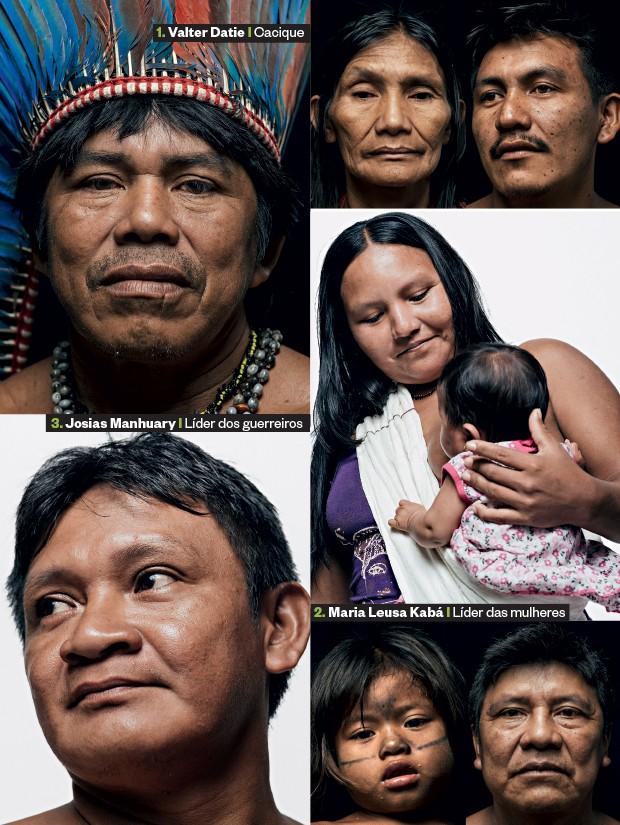 """NA LINHA DE FRENTE 1. Valter quer a demarcação de suas terras no Médio Tapajós  2. Maria Leusa ocupou Belo Monte para  combater as usinas  3. Josias manda o recado ao governo. """"Somos cortadores de cabeça"""" (Foto: Filipe Redondo/ÉPOCA)"""