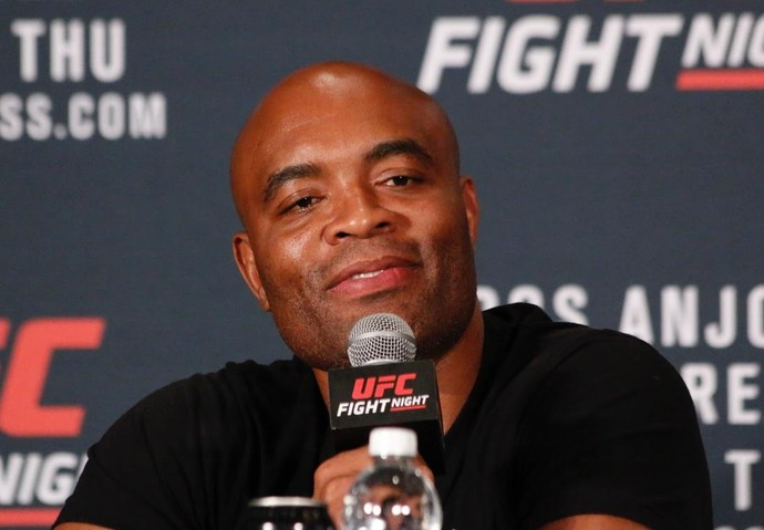 Anderson Silva Coletiva UFC (Foto: Evelyn Rodrigues)