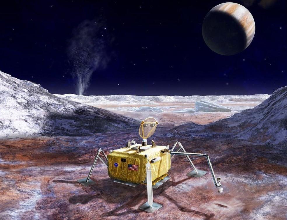 Pousando uma sonda em Europa, a Nasa poderá determinar se a vida existe ou já existiu na lua jupteriana (Foto: NASA/JPL-Caltech )