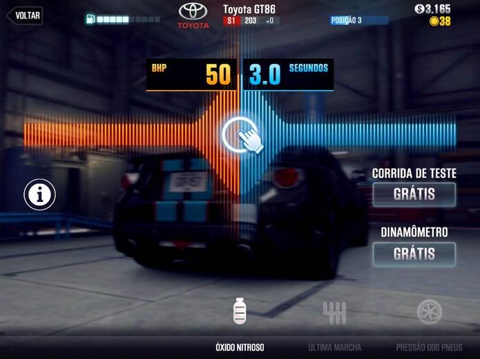 É possível tunar confugurações detalhadas do seu carro (Reprodução/Cássio Barbosa)