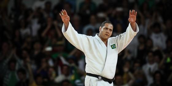 Rafael Silva, o Baby, na luta final que valeu a medalha de bronze no Rio (Foto: Ricardo Nogueira)