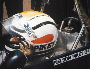 Capacete 'Piket' do tricampeão de F-1 Nelson Piquet no início da carreira, em 1974 (Foto: Acervo pessoal)