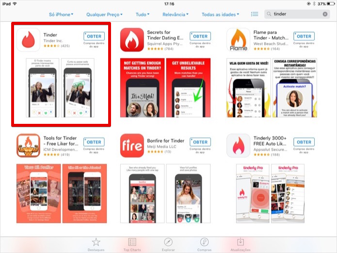 tinder for ipad