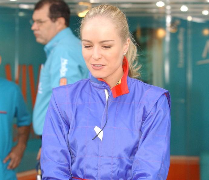 Foram muitas as aventuras da apresentadora no programa! (Foto: CEDOC / TV Globo)