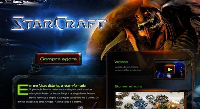 Compre StarCraft no site oficial (Foto: Reprodução/Felipe Vinha)