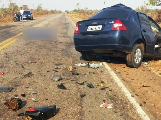 Acidente ocorreu na rodovia entre Palmas e Paraíso do Tocantins (Foto: Surgiu/Divulgação)
