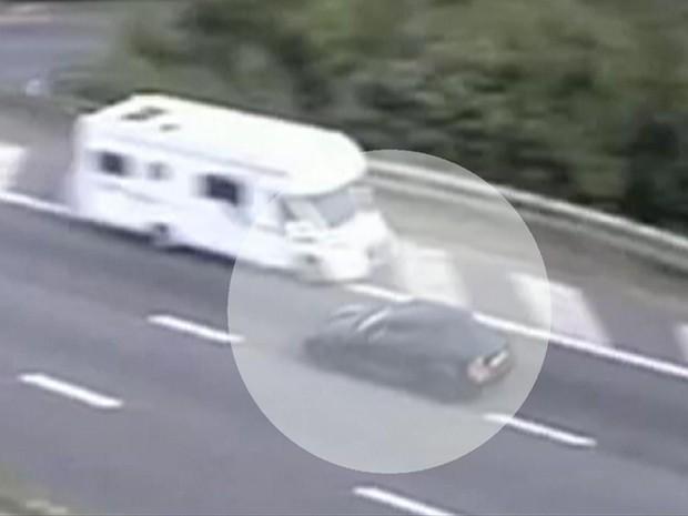 Britânico dirigiu 15 km na contramão (Foto: Reprodução/BBC)