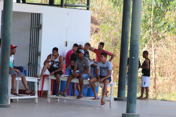 Jogadores do River-PI  (Foto: Joana D'arc Cardoso)