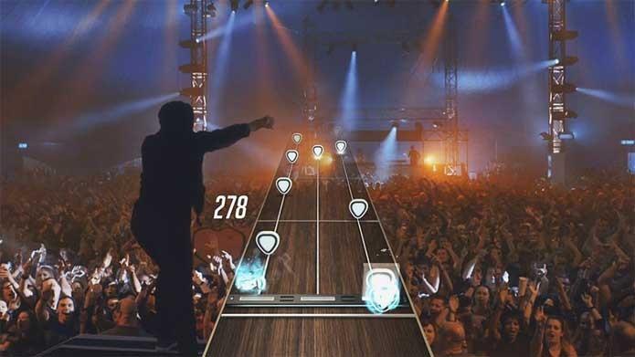 Guitar Hero Live usa filmagens de shows (Foto: Divulgação/Activision)