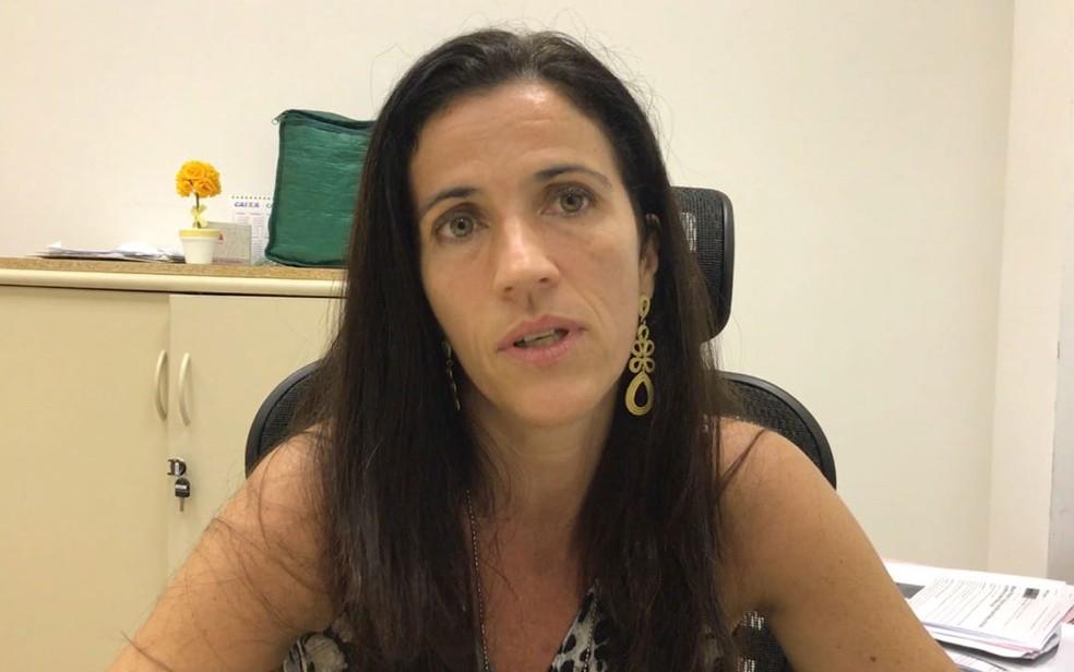 Delegada Fernanda Fernandes investiga o caso (Foto: Henrique Coelho / G1)