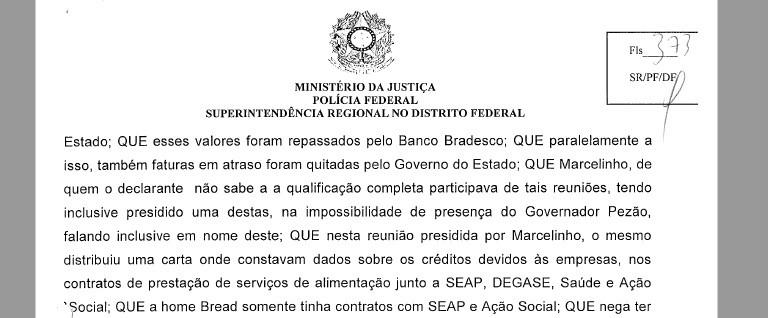 Trecho de depoimento do empresário Antonio Carlos Oliveira Monteiro na Operação Quinto do Ouro (Foto: Reprodução)