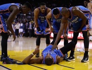 Kevin Durant Golden State x Oklahoma NBA (Foto: Getty)