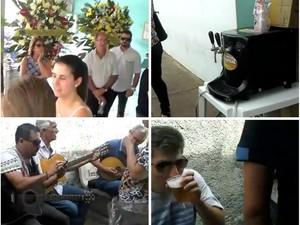 Velório em Matão teve chope e moda de viola como homenagem para empresário (Foto: Reprodução/Facebook)
