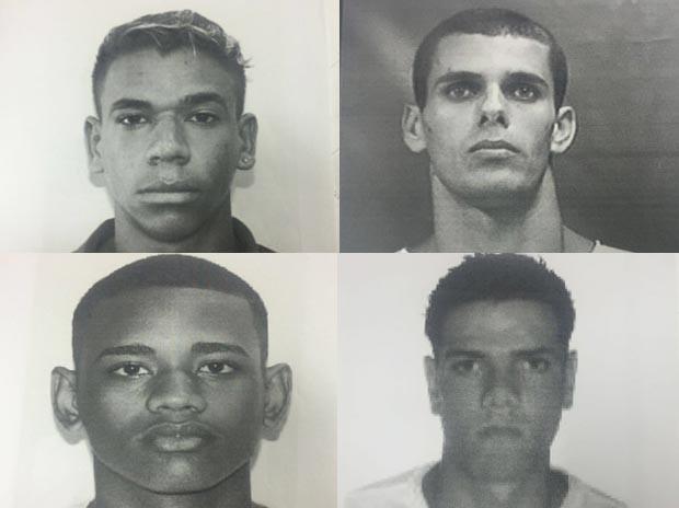 Da esquerda para a direita, Michel Brasil da Silva, Raphael Belo, Marcelo Correa e Sergio Luiz da Silva Junior  (Foto: Divulgação / Polícia Civil RJ)