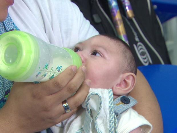Bebê com microcefalia no Recife (Foto: Reprodução/TV Globo)
