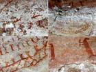 Pintura rupestre é fotografada pela primeira vez no interior do Paraná