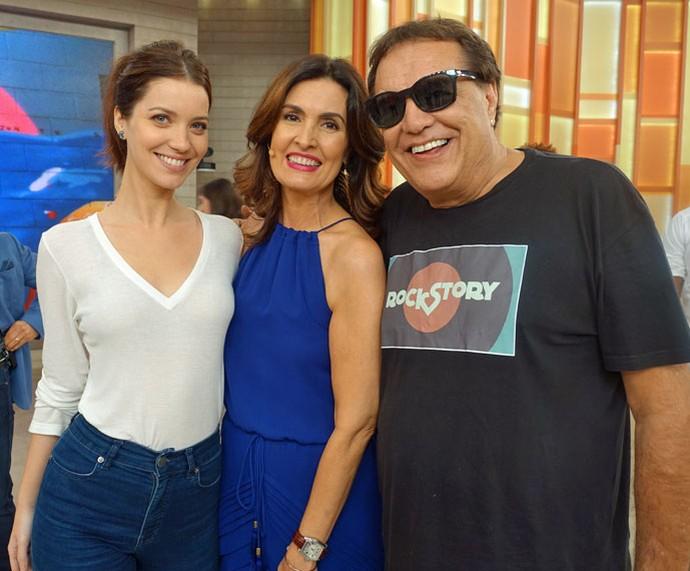Fátima com a atriz Nathalia Dill e o diretor Dennis Carvalho  (Foto: Carolina Morgado/Gshow)