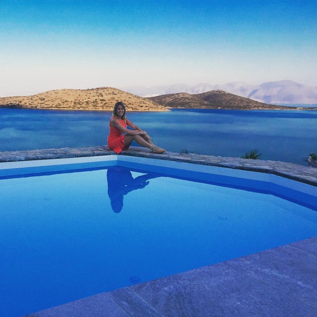 Marina Mantega em foto na Grécia posta em rede social (Foto: Reprodução/Instagram)