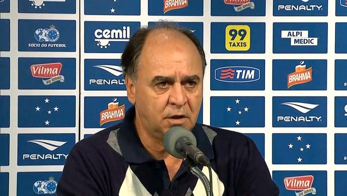 Marcelo Oliveira se despede do Cruzeiro (Foto: Reprodução / TV Globo Minas)