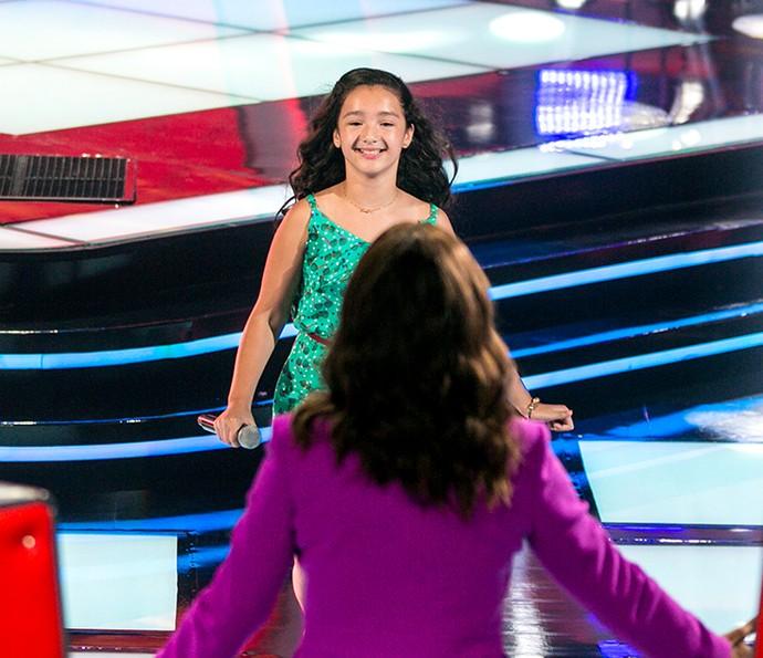 Kailane Frauches conquista todos os técnicos no The Voice Kids (Foto: Isabella Pinheiro/Gshow)