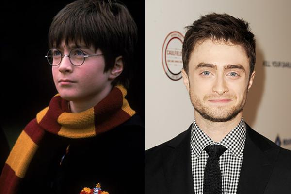 Daniel Radcliffe no início dos anos 2000 e atualmente (Foto: Divulgação)