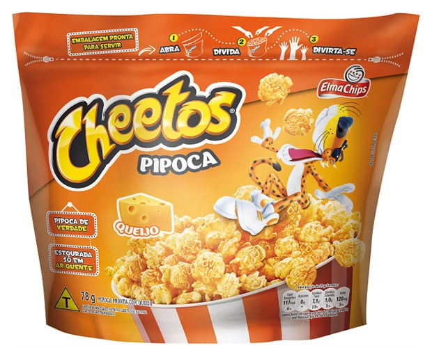 Elma Chips lança pipoca pronta Cheetos (Foto: Divulgação)