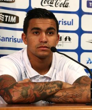 Dudu, atacante do Grêmio (Foto: Diego Guichard)
