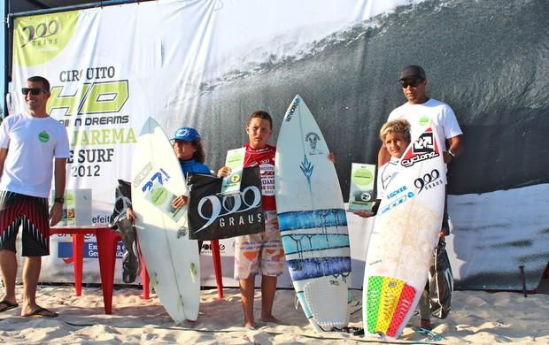 Premiação da categoria infantil no primeiro circuito (Foto: Gibão/Divulgação)