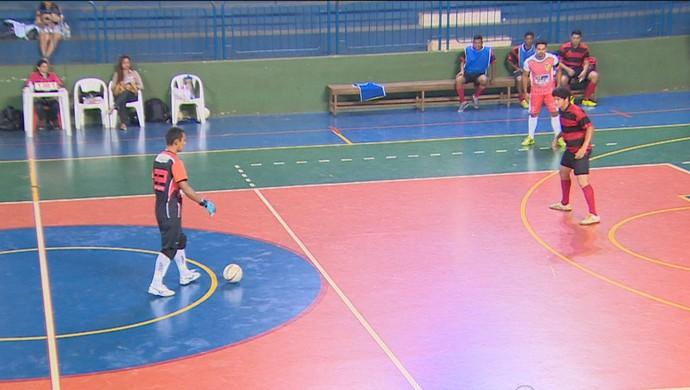 Raimundo, goleiro do Evolution (Foto: Reprodução/ TV Rondônia)