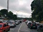 Acidente e veículos em pane geram congestionamento em vias de Manaus