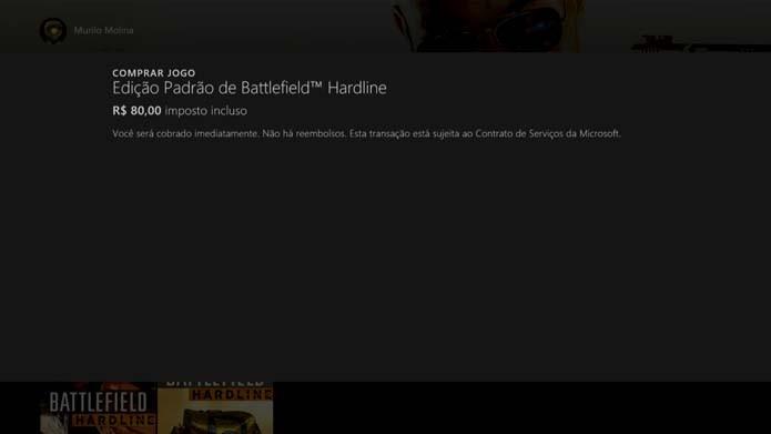Finalize a compra de Battlefield: Hardline (Foto: Reprodução/Murilo Molina)