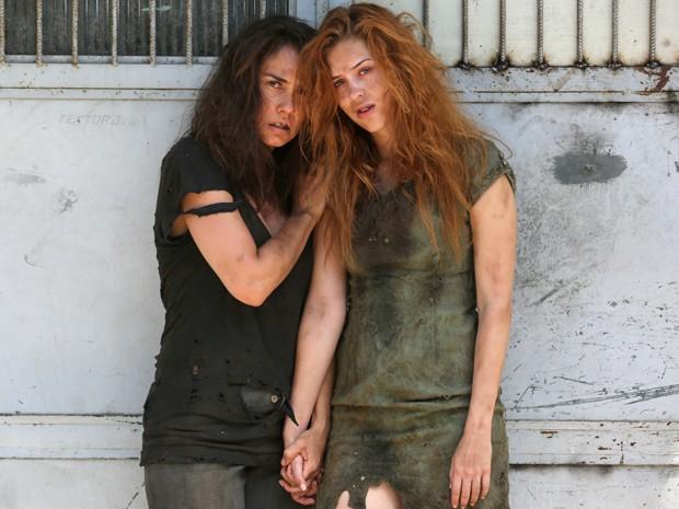 Parece que a vida não está fácil para Gaby e Suzana (Foto: Pedro Curi/Gshow)