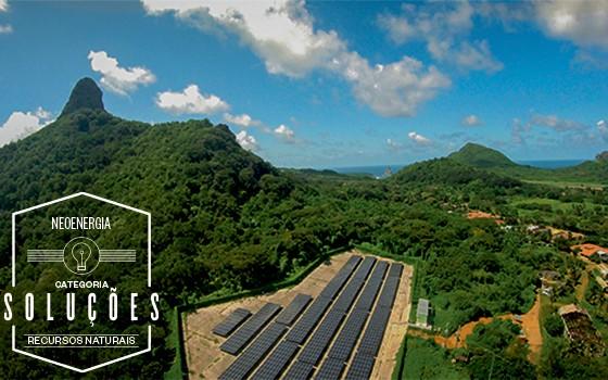 Placas solares  em Fernando  de Noronha (Foto: Fabio Borges Pereira)