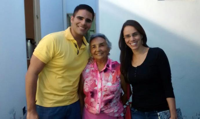 Helder Vilela, Etevalda Oliveira e Michele Sales na Academia de Lestra de Valença (Foto: Rede Clube)