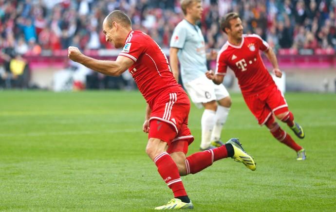 Robben Comemoração Bayern de Muique contra o Mainz (Foto: Agência AP)